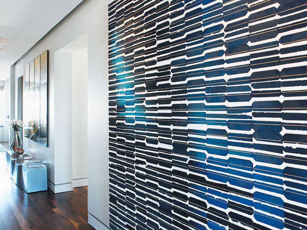 Large-scale art adds visual punch to walls and passageways.