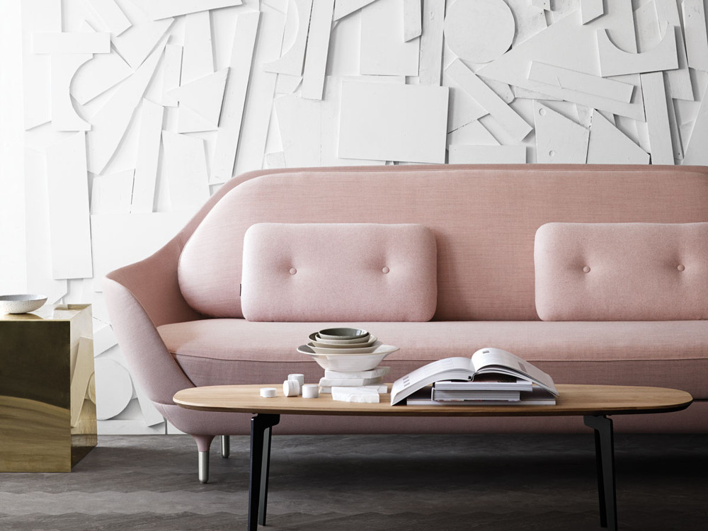 The Republic of Fritz Hansen was founded in Denmark in 1872. Their Classic Collection includes the work of modern Danish architects and designers, such as Arne Jacobsen's iconic Swan and Egg chairs. The lines of the Favn sofa—Danish for embrace—designed by Jaime Hayon, illustrate the simplicity and elegance of Scandinavian design.