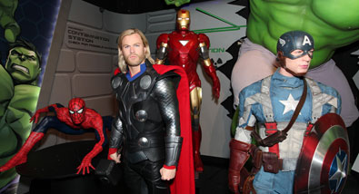 The Avengers at Madame Tussauds New York