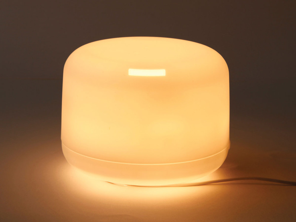 From Japanese import, Muji, the Ultrasonic Aromatherapy Diffuser provides soft light and surrounds the user with the restorative scent of essential oils.