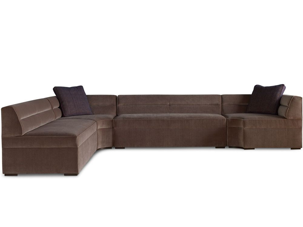 The Helena sectional consists of a corner sofa, armless sofa, and corner chair.