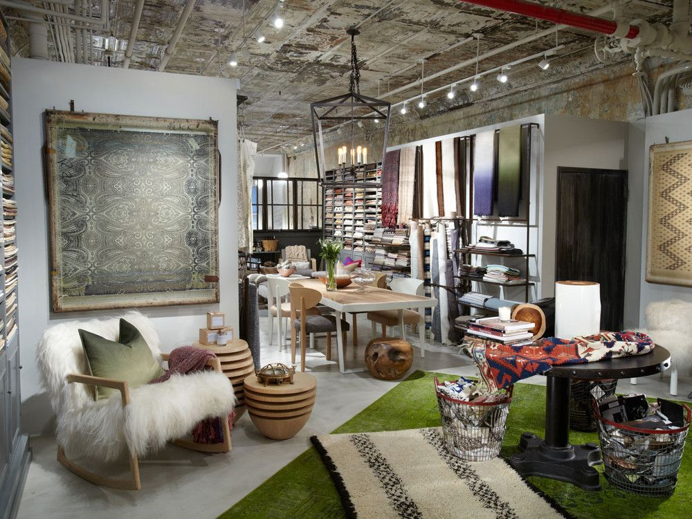 Analisse Taft's ALT for Living design showroom carries a variety of beautiful fabrics, furniture, accessories, and carpets. Photograph by Keith Scott Morton.