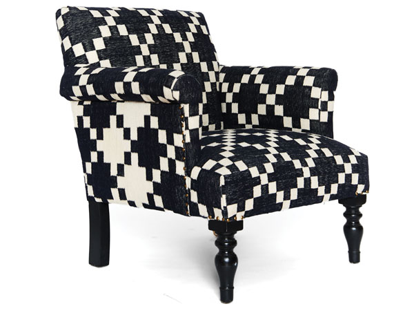 Dhurrie Check Armchair