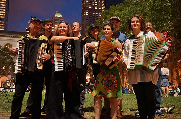 Accordions Around the World at Bryant Park