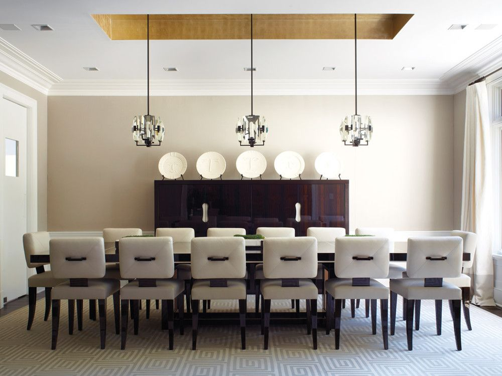 Charmant A Rogers U0026 Goffigon Linen Adds Texture To The Dining Room Walls. Chairs  From J