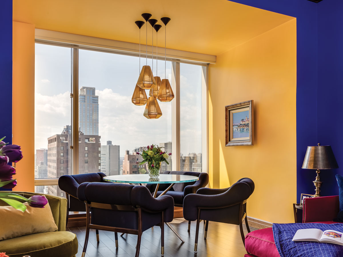 Samantha Gore Creates a Moroccan Idyll at One Central Park West in Marjorelle Blue