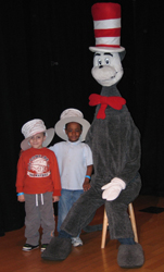 Cat in the Hat at Stepping Stones Museum