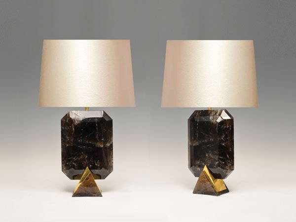 Smoky Brown Rock Crystal Lamps