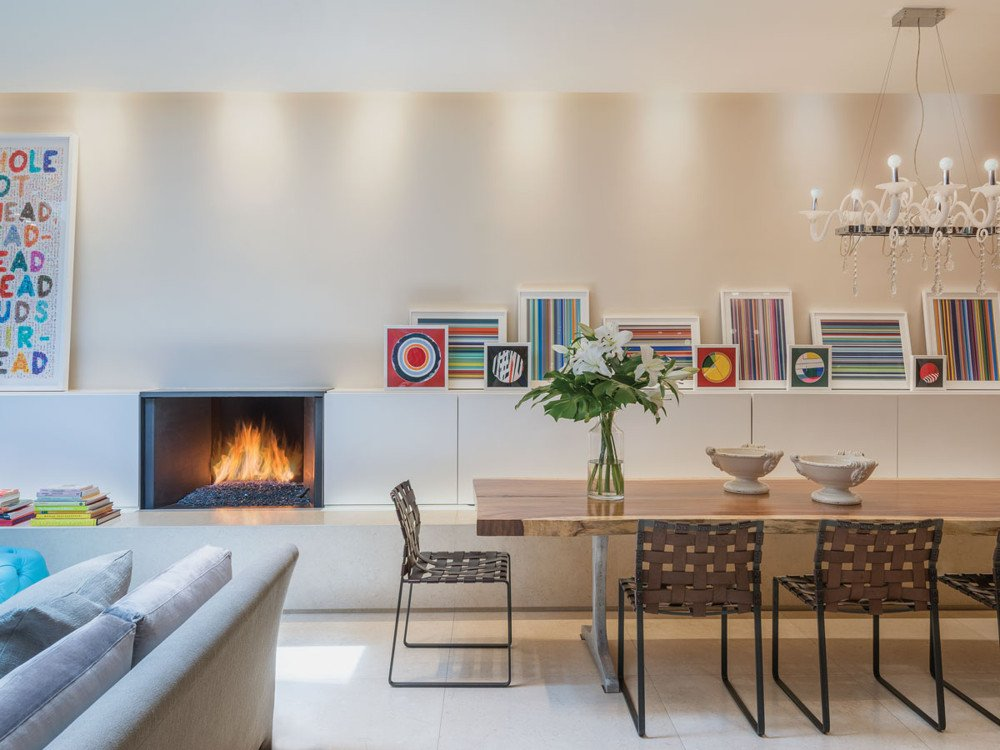 Delrose Design Group Decorates Irene Mamiye's Modern Home with Her Vibrant Artwork