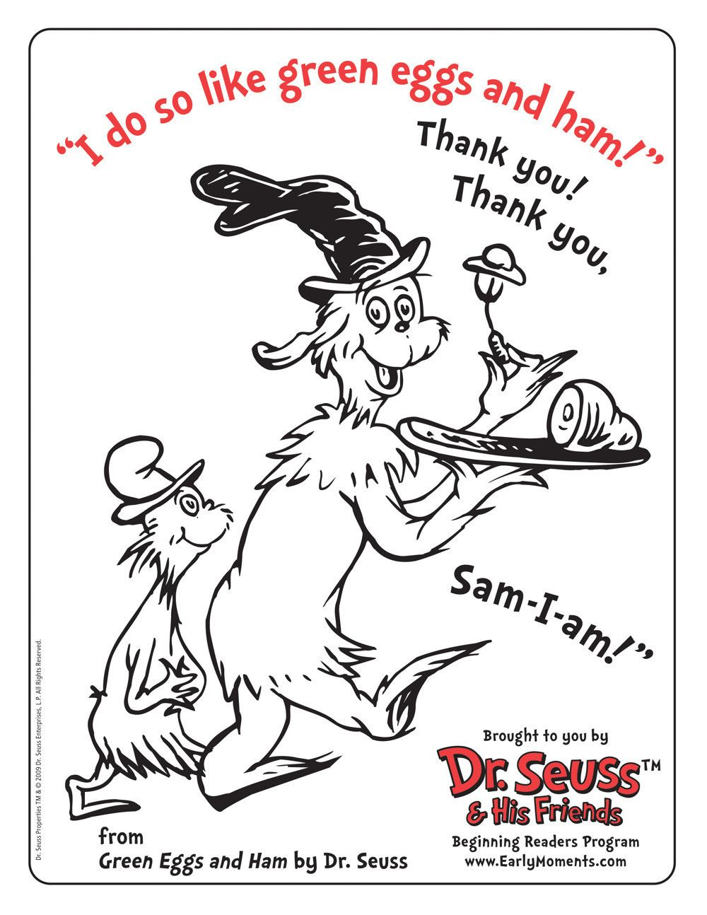 Dr Seuss And Friends Coloring Contest