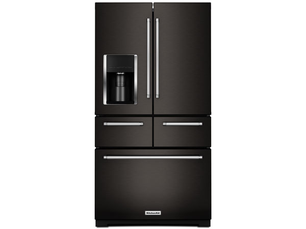 Multi-Door Black Stainless Refrigerator