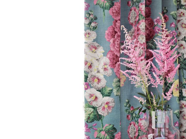 Hollyhocks Fabric