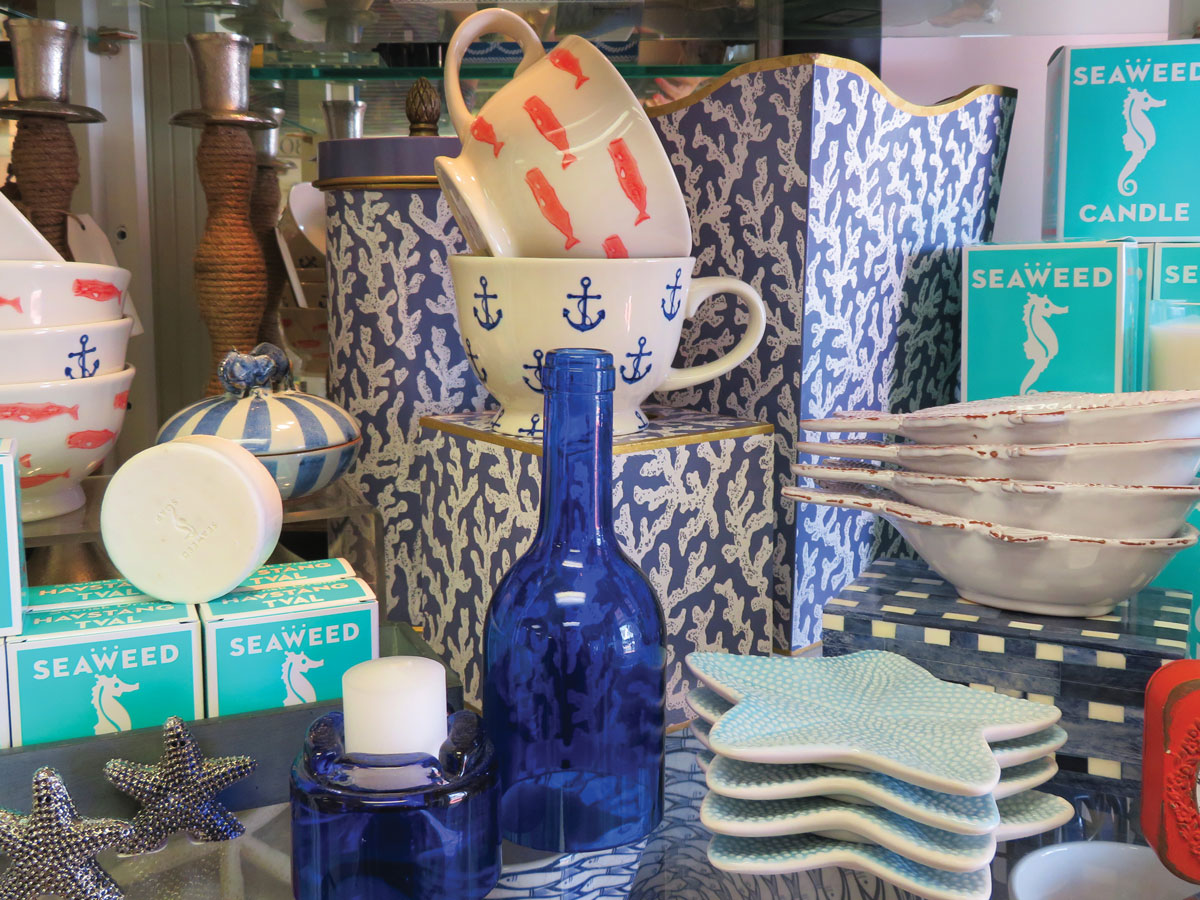 Nautical-themed wares from Homeport Town.