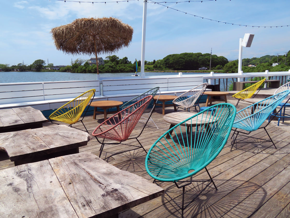 The Surf Lodge's hip deck.