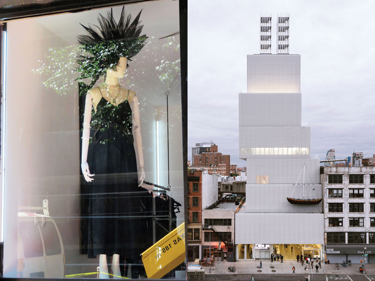 Left: The neighborhood is laden with hip boutiques Right: The New Museum. Image Courtesy New Museum, New York. Photo: Dean Kaufman