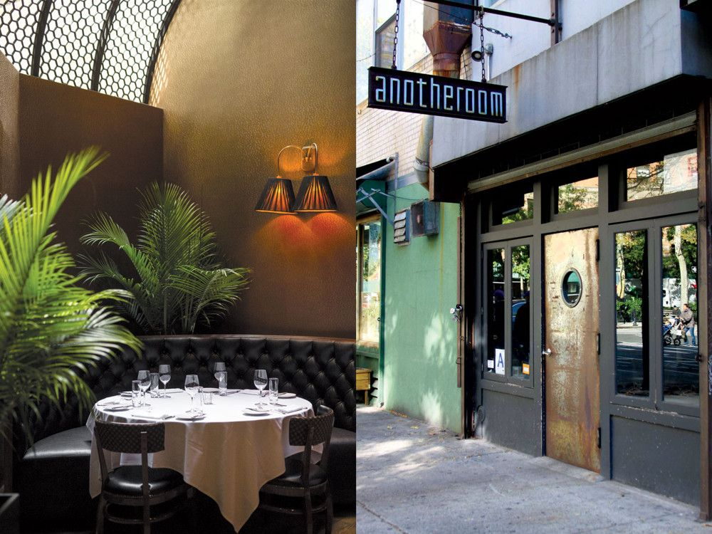 Left: White Street, Tribeca's newest claim to culinary fame, was selected as the location for a Democratic fundraiser with President Obama in attendance just weeks after opening. Right: Anotheroom is a cozy, candlelit wine-and-beer bar on West Broadway.