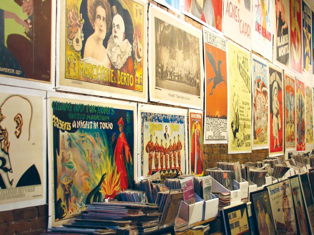 Philip Williams Posters, on Chambers Street, was established in 1972 and houses one of the world's largest private vintage poster collections.