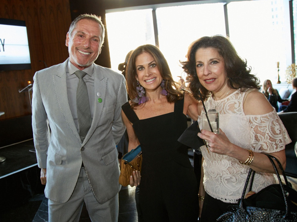 Left to Right, Vicente Wolfe (Finalist for VW Home line), Lisa Ben-Isvy (Publisher of New York Spaces) and Trudi Romeo (Director at VW Home) at 5/1/17 New York Spaces Spring Into Design presented by Benjamin Moore event at Ascent Lounge in Time Warner Center, awarding the 2017 Leaders in Home Products Design Awards.