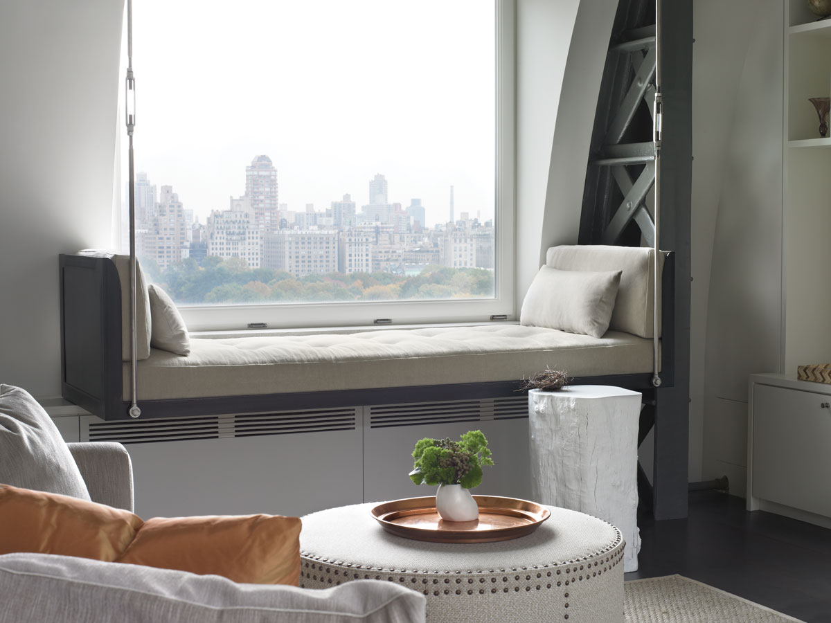 kathryn scott and david foley bring the cool factor to an upper west side penthouse new york. Black Bedroom Furniture Sets. Home Design Ideas