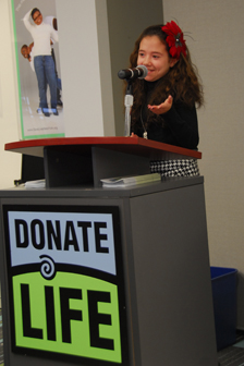 Lauren Shields, Donate Life spokesperson