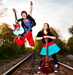Chris and Jessie Apple teach everything from Van Morrison to the Beatles to original songs in their Little Rockers – Cool Kid's Music classes.