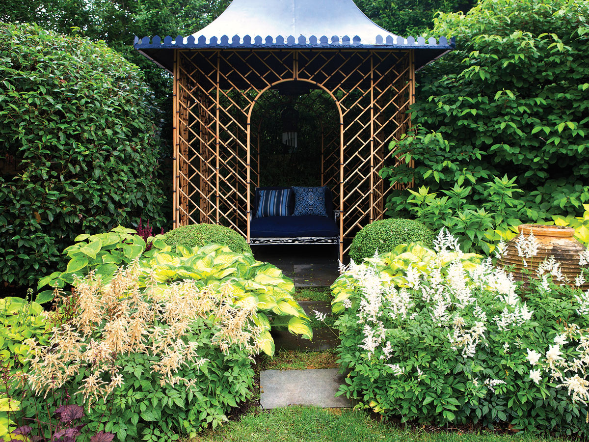 "The gazebo, says Pearson, is ""a place where people can read, relax, or just escape whatever they want to escape."""