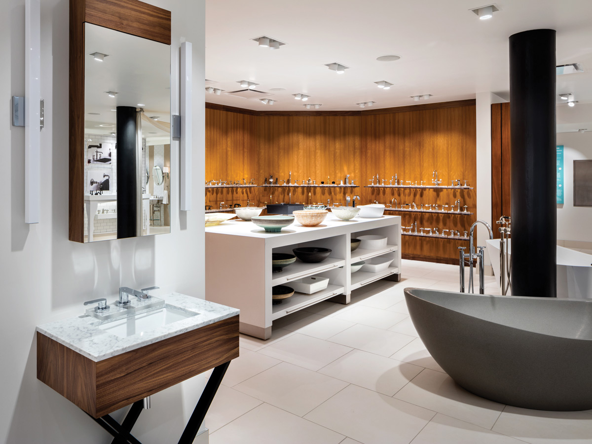 Kitchen and bathroom appliances - The First Floor Showroom Of Kitchen Vignettes Features Appliances Styled With Cabinets And Tile From