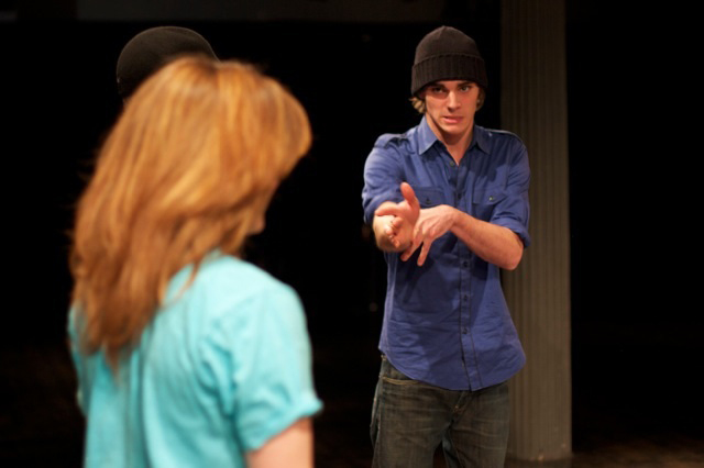 RJ Mitte acting workshop with kids