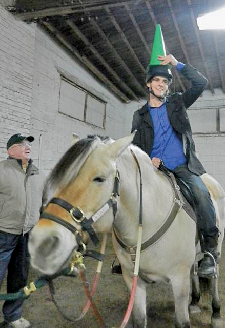 RJ Mitte riding at GallopNYC