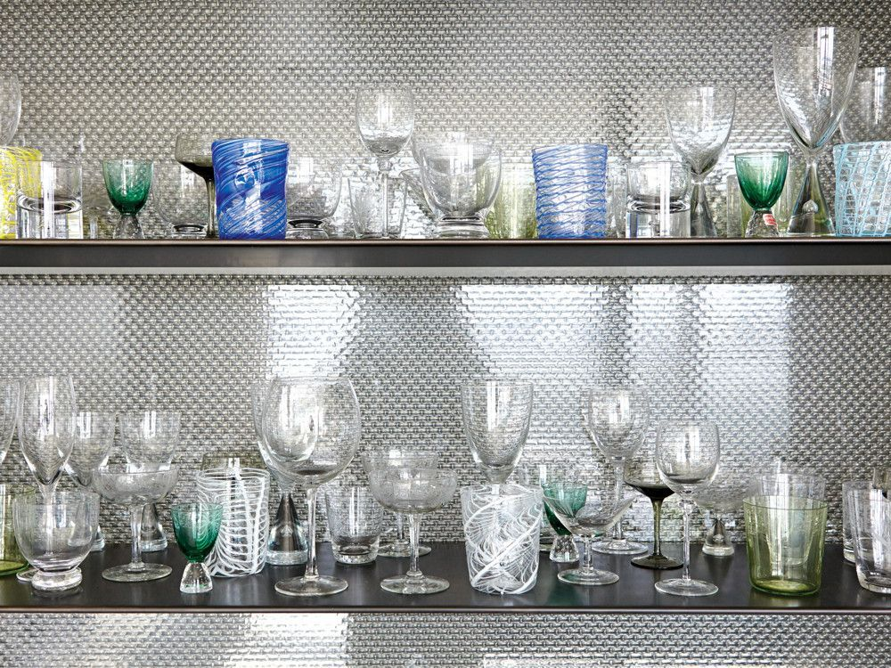 The clients opted to showcase their glassware collection to full effect.