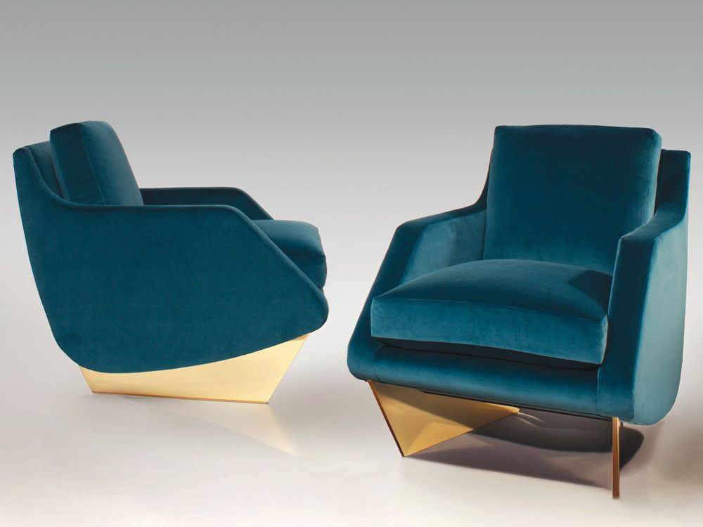 The complementary armchair is as voluptuous and enveloping as its larger relative.