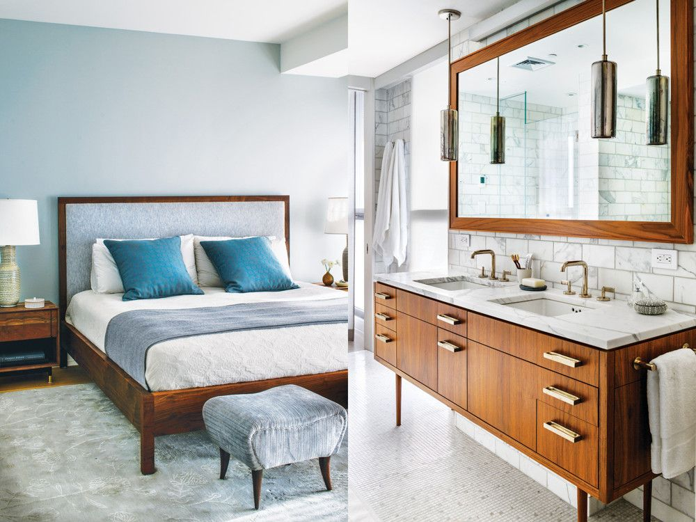 Double up new york spaces - Meuble salle de bain vintage ...