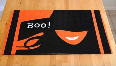 DIY Halloween Duct Tape Doormat
