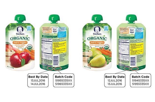 Gerber Issues Recall of Organic Food Pouches