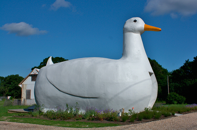 giant duck building on long island in suffolk county