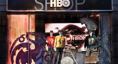 The HBO Shop Features Game of Thrones Exhibit