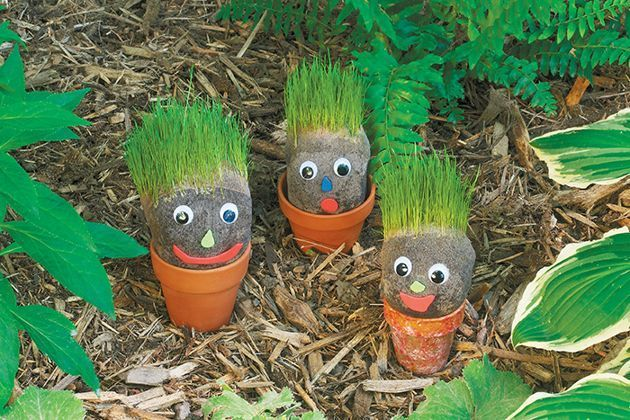DIY Grassy Garden Gnomes Craft for Kids