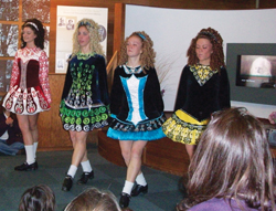 Irish dancers from Mulvihill-Lynch Studio