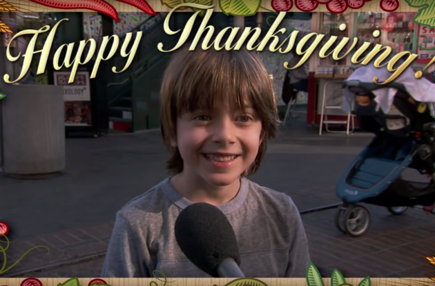 Kids Tell Jimmy Kimmel What They Are Thankful for This Thanksgiving