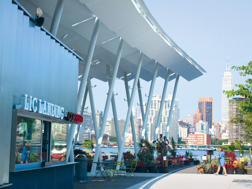 LIC Landing is steps away from the East River Ferry terminal in Hunter