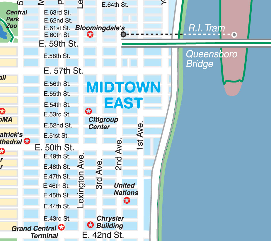 image relating to Map of Midtown Manhattan Printable known as Clean York Town Maps and Regional Direct