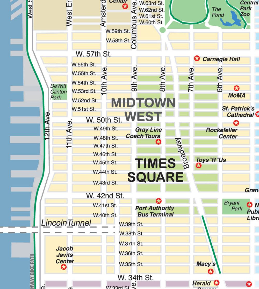 New York City Maps and Neighborhood Guide – Tourist Attractions Map In New York City