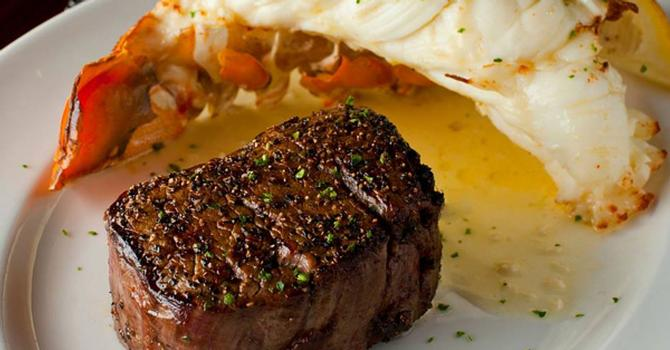 A Succulent Surf 'n' Turf Special at Del Frisco's Double Eagle Steak House