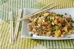 Recipes for Basil Pineapple Fried Rice and Granola Banana Bran Muffins