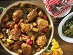 Weeknight Recipe: Lemon-Scented Crispy Chicken Thighs with Potatoes and Baby Carrots