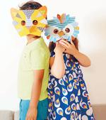 DIY: Tiger Mask and Owl Mask from 'Petit Collage'
