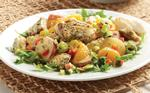 Recipe: Warm Halibut Potato Salad with Green Onion Dijon Dressing