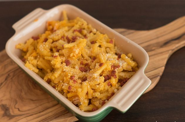 Baked Macaroni and Cheese with Crumbled Bacon Recipe