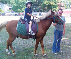pony rides at Greenlawn Equestrian Center