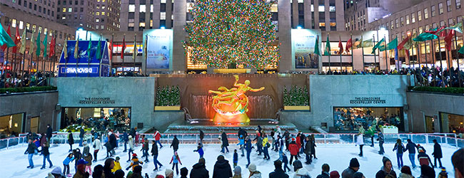 Rockefeller Center Ice Skating Rink Opens, Cranberry Bog Returns